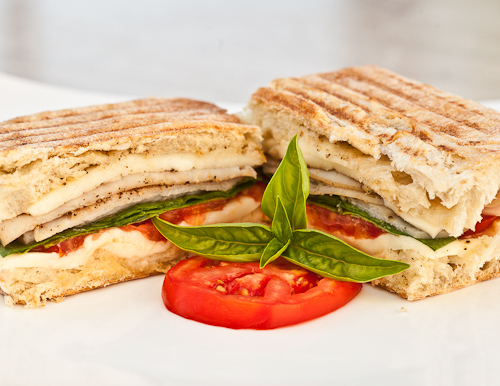 Mesquite Turkey Panini with Garlic Butter
