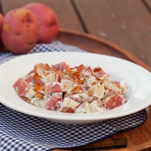 Ranch Potato Salad white plate