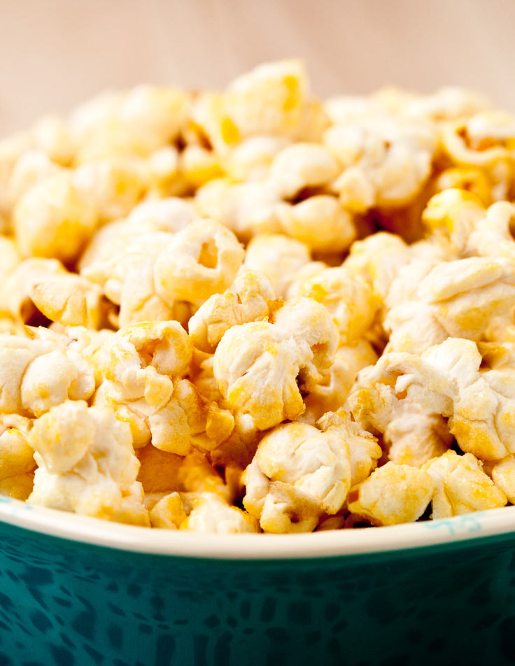 Kettle corn popcorn in bowl