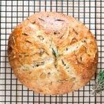 garlic bread, rosemary bread, rosemary garlic bread, garlic rosemary bread
