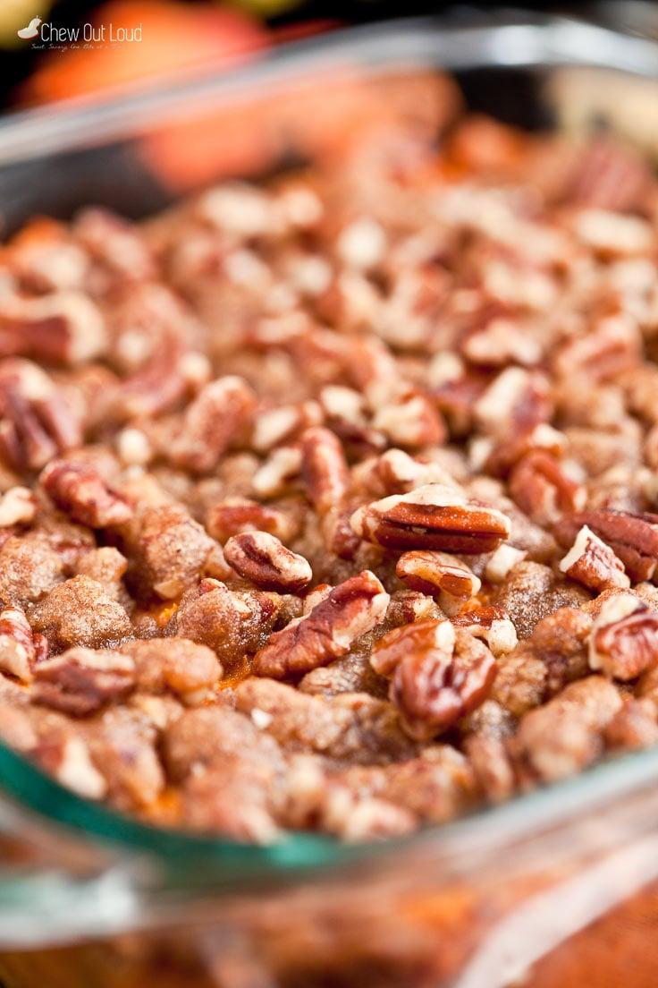 sweet potato casserole, pecan streusel