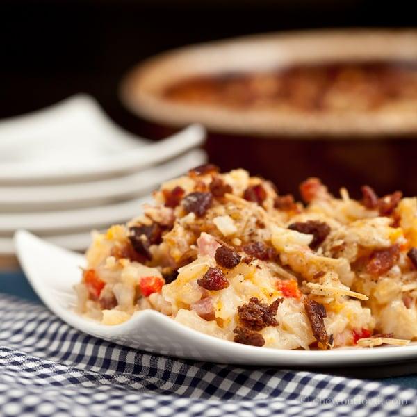 Cheesy Ham 'n Hash Brown 4