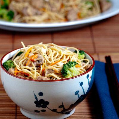 Chicken Chow Mein in bowl
