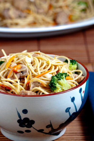 Chicken Chow Mein in bowl