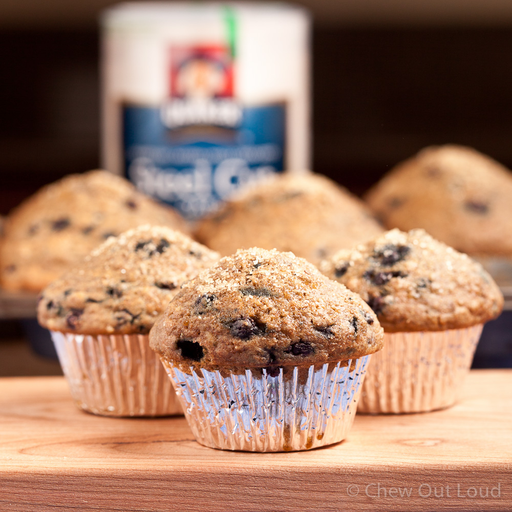 Steel Cut Oatmeal Blueberry Muffins 3