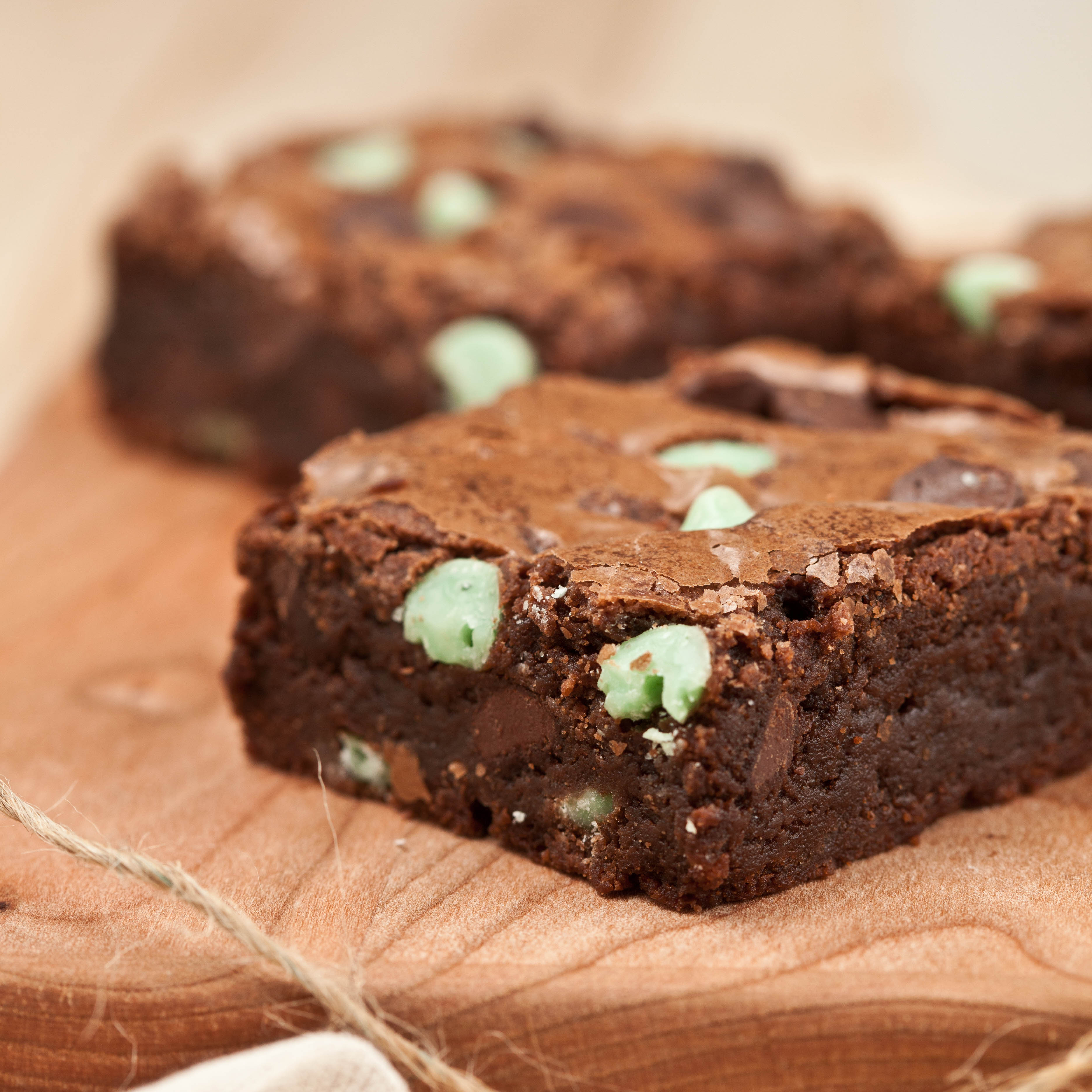 Chewy Mint Chocolate Brownies 2
