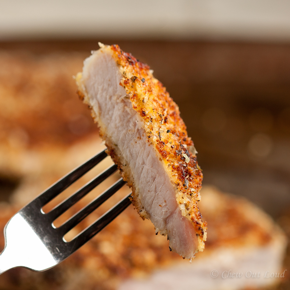 Parmesan Panko Crusted Pork Chop