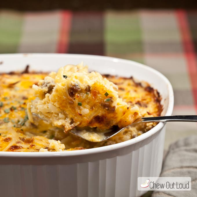 Cheesy Potato and Sausage Bake, brunch recipes