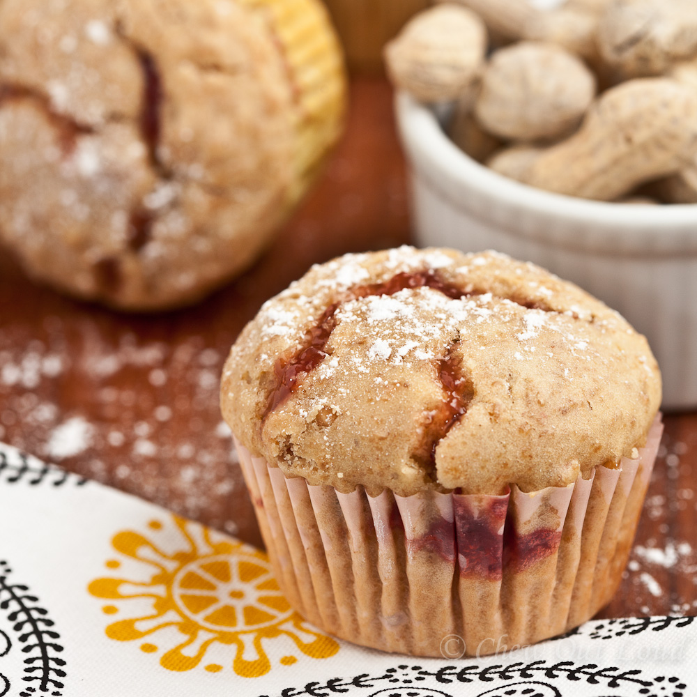 Peanut Butter Jelly Muffins 3