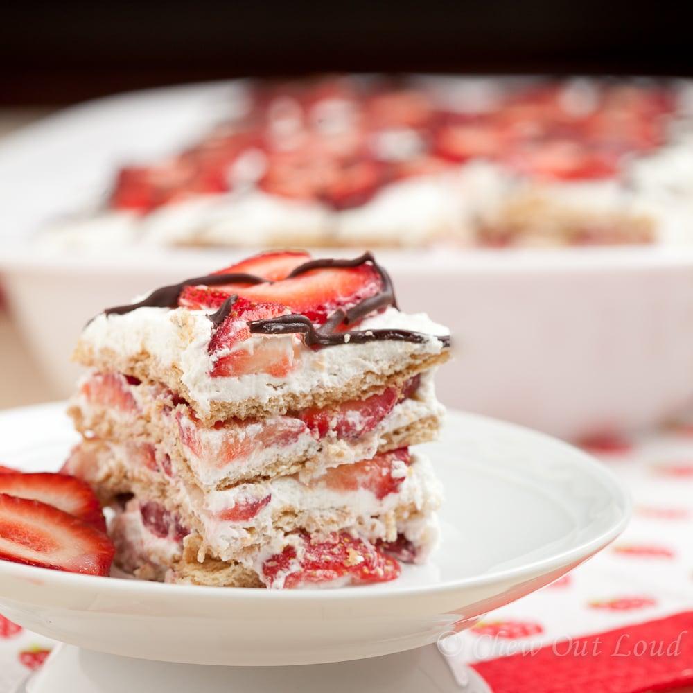 Strawberry Icebox Cake 2