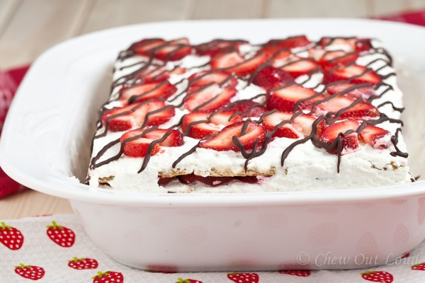 Strawberry Icebox Cake (No Bake!)