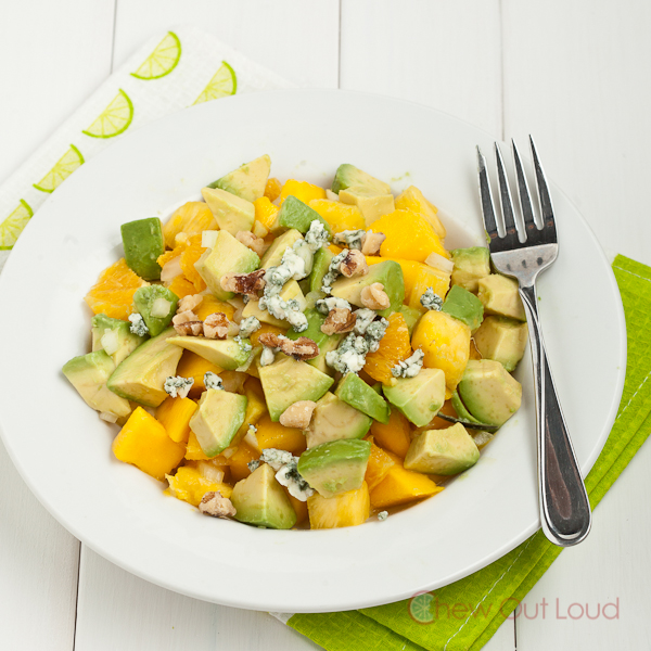 Avocado Mango Gorgonzola Salad