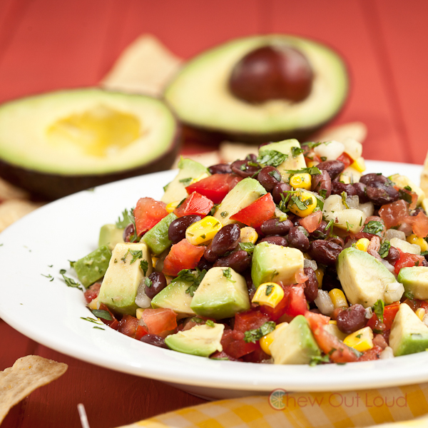 Black Bean Avocado Dip Salad 2