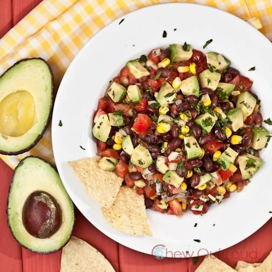 Black-Bean-Avocado-Dip-Salad