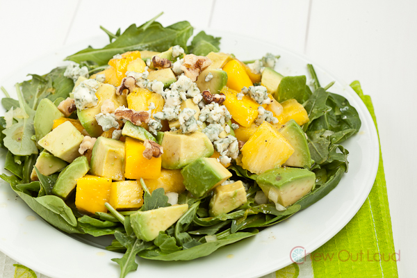 Blue Avocado Mango Salad