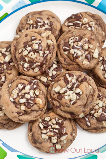 Chewy Mint Chocolate Chip Cookies 3
