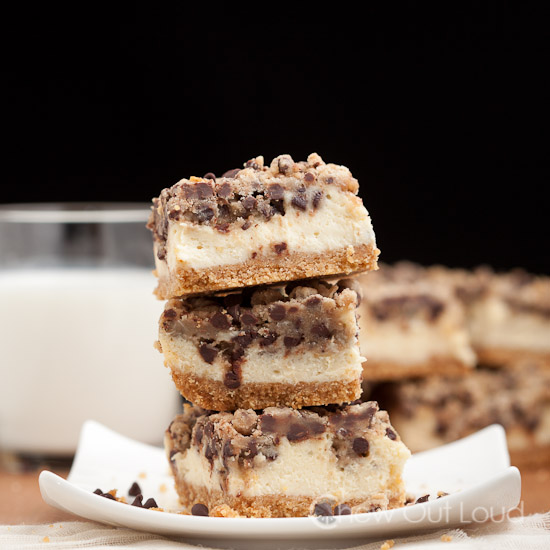Chocolate Chip Cookie Cheesecake Bars 2
