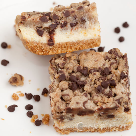 Chocolate Chip Cookie Cheesecake Bars 3