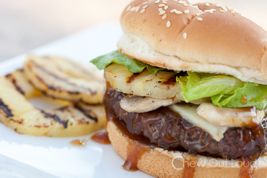 Dig in to this teriyaki burger