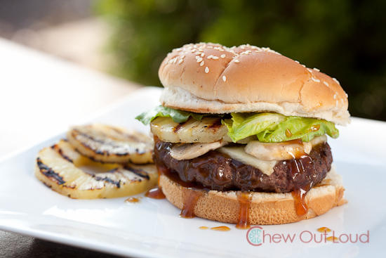 Hawaiian Teriyaki Burger: Sauteed mushrooms and havarti cheese