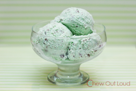 "Mint chip ice cream, aka ""peppermint bon bon"""