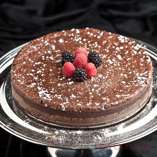 flourless chocolate cake 6