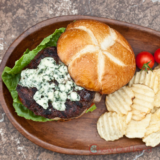 Cabernet Burgers with Blue Cheese 2