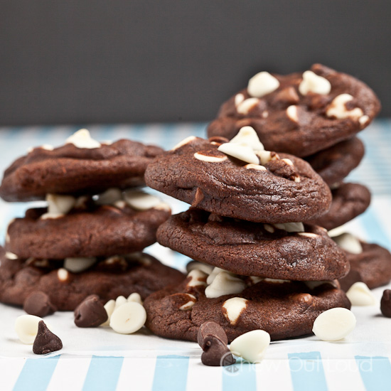 Chewy Triple Chocolate Chocolate Chip Cookies