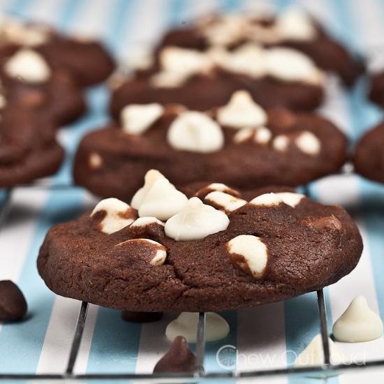 Chewy Triple Chocolate Cookies 3