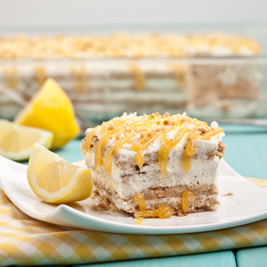 Lemon Icebox cake no bake