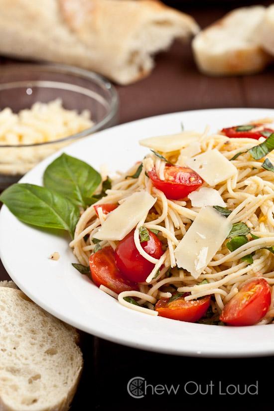 Bruschetta Tomato Basil Pasta
