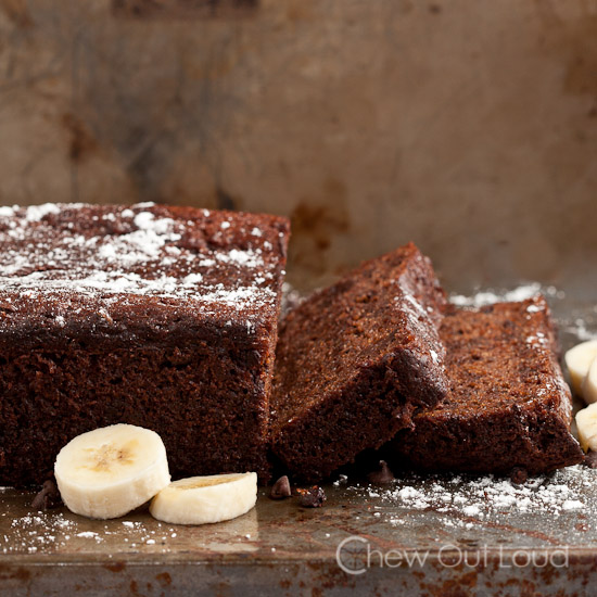 Chocolate Banana Greek Yogurt Bread