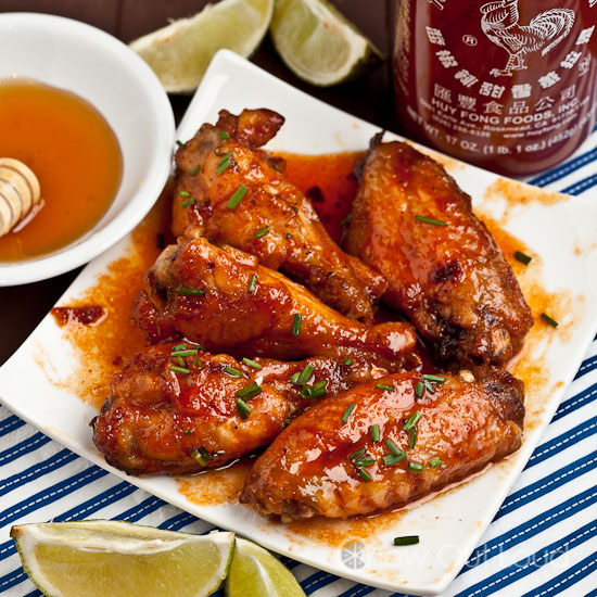 Honey Sriracha Chicken Wings 2