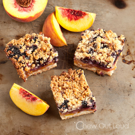 Peach and Blueberry Dessert Bars