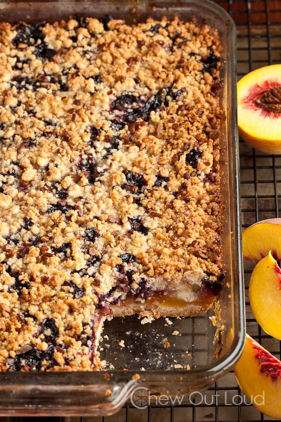 Peach 'n Blueberry Crumb Bars