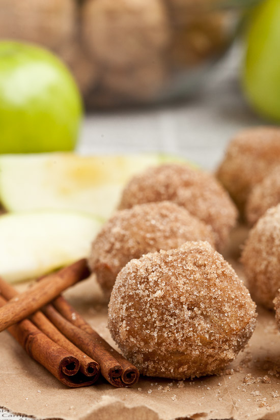 baked apple donut holes