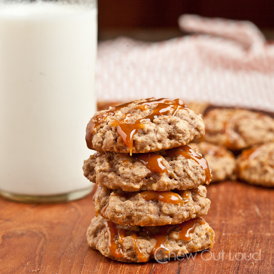 soft apple oatmeal cookies 3