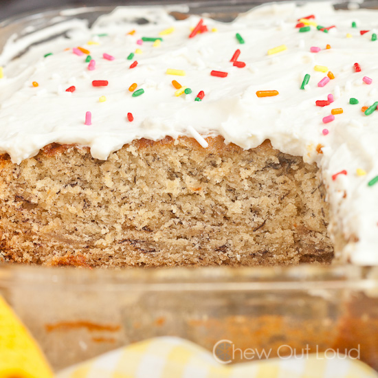 Banana Cake Whipped Cream Cheese Frosting