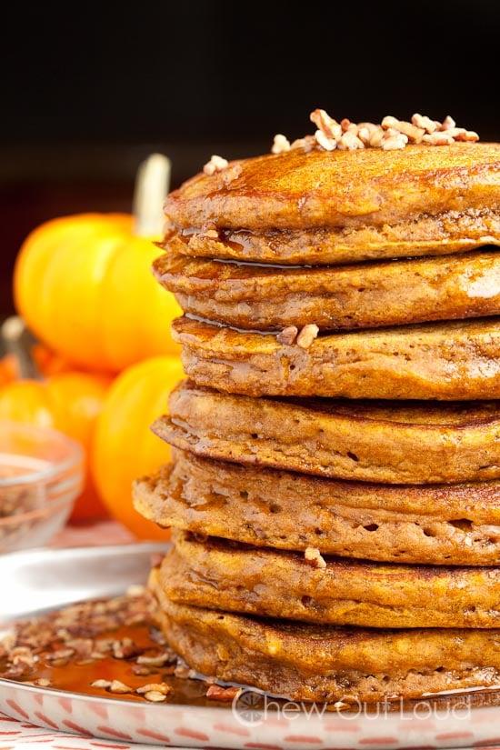 Fluffy pumpkin pancakes 2