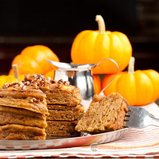 Fluffy pumpkin pancakes 3