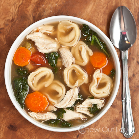 Chicken 'n Vegetable Tortellini Soup