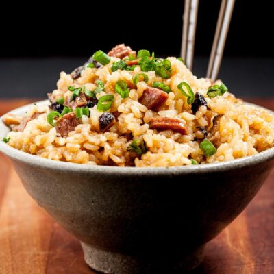 Chinese Sticky Rice in Asian Bowl
