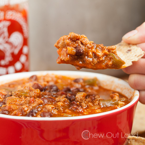Hearty Chili with Sriracha 2
