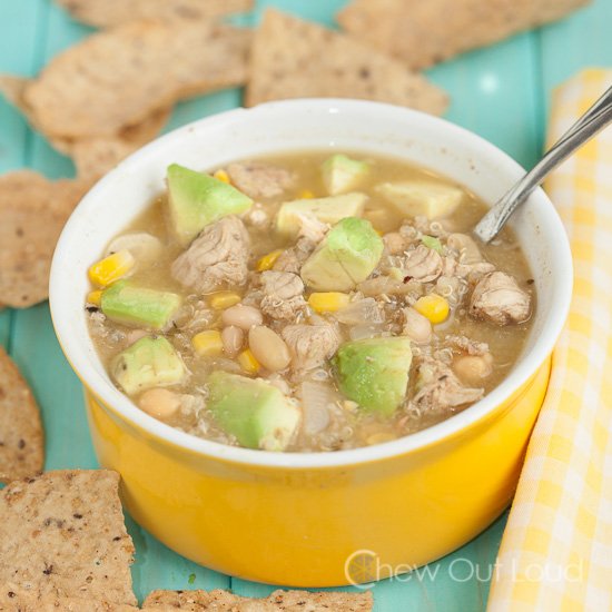 White Chicken Chili with Quioa