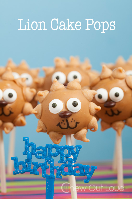 Lion Cake Pops Birthday