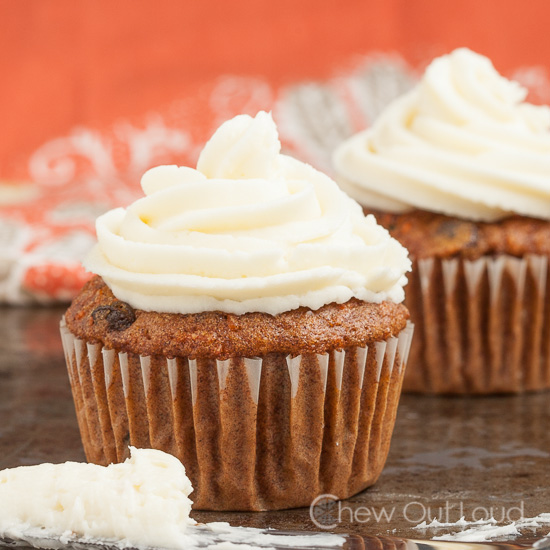 Carrot Cake Cream Cheese Cupcakes 2