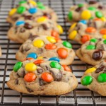 M&M Chocolate Chip Soft Cookies