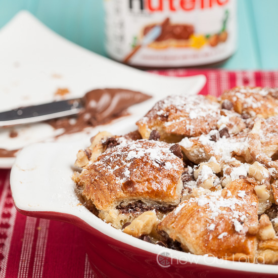 Nutella Bread Pudding 3
