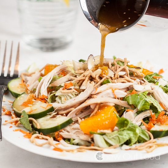 chinese asian chicken salad