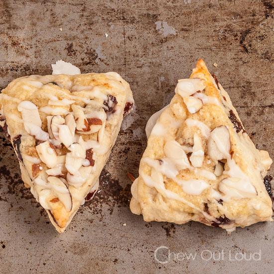 Almond Berry White Chocolate Scones